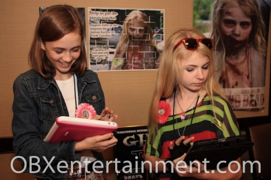 'The Walking Dead' co-stars Madison Lintz (Sophia) and Addy Miller - shot by Artz Music &  Photography on April 20, 2012 in Virginia Beach, VA