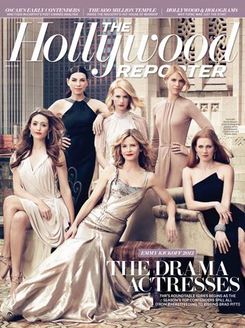 Claire Danes, Mireille Enos, January Jones, Julianna Margulies, Emmy Rossum and Kyra Sedgwick on the cover of THR