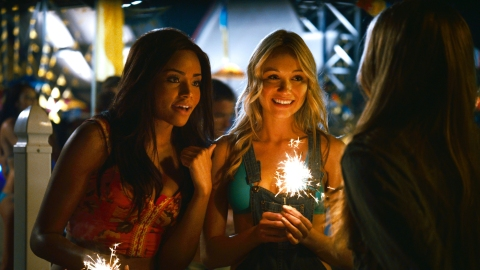 Meagan Tandy and Katrina Bowden light up the screen in 'Piranha 3DD'.