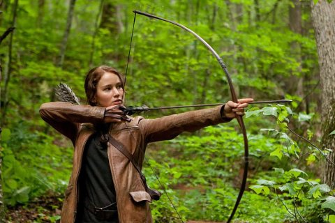 Jennifer Lawrence on the NC set of 'The Hunger Games'
