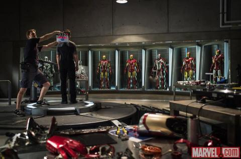 The first official photo from the NC set of 'Iron Man 3'