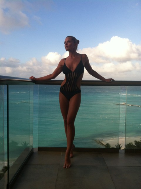 Kinston, NC native Jaime Pressly in Cancun on March 6, 2012