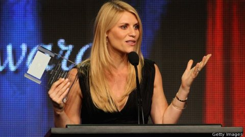 Claire Danes wins Individual Achievement in a Drama honors for 'Homeland' at the Television Critics Association Awards on July 28, 2012. (photo: Getty Images)