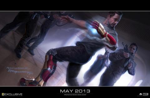 Official concept art from 'Iron Man 3' - now filming in Wilmington, NC.