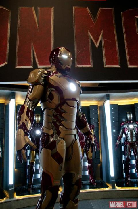 The new suit of armor from 'Iron Man 3'.