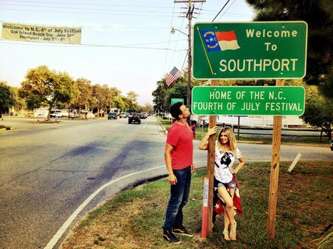Josh Duhamel and Fergie are in Southport, NC this summer, as Duhamel films 'Safe Haven'.