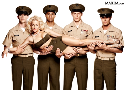 Albemarle, NC native Kellie Pickler, photographed for the 2012 Salute to the Military issue of Maxim Magazine.