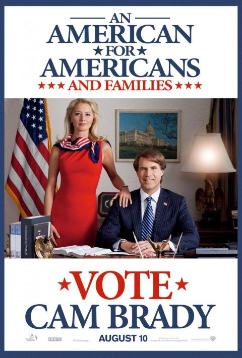 Will Ferrell co-stars with Wilksboro, NC native Zach Galifianakis in 'The Campaign'.