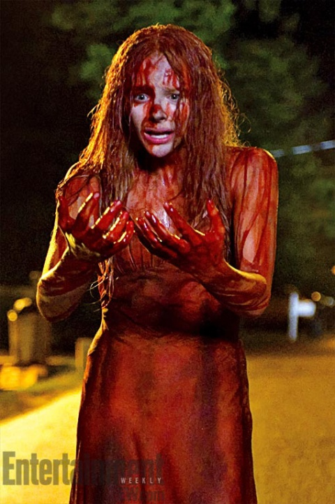 Chloe Grace Moretz is the new 'Carrie'. (photo: EW)