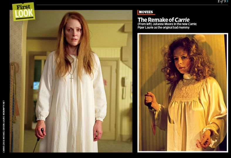 "In the new 'Carrie' remake, NC native Julianne Moore is ""Margartet White"", first played by Piper Laurie in the original film."