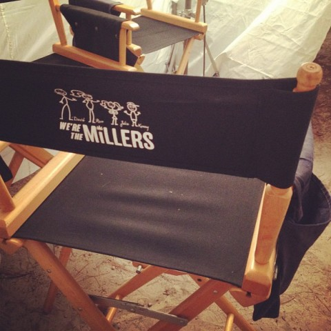 A first look of the film's logo, from the Wilmington, NC set of 'We're the Millers', tweeted by star Emma Roberts.