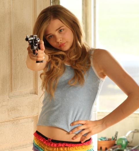 Chloe Grace Moretz takes aim in 'Hick'.