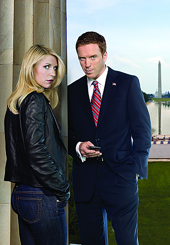 Claire Danes as Carrie Mathison and Damian Lewis as Nicholas Brody in 'Homeland'.