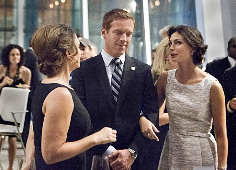 Damian Lewis and Morena Baccarin in scene from Season 2 of 'Homeland'.
