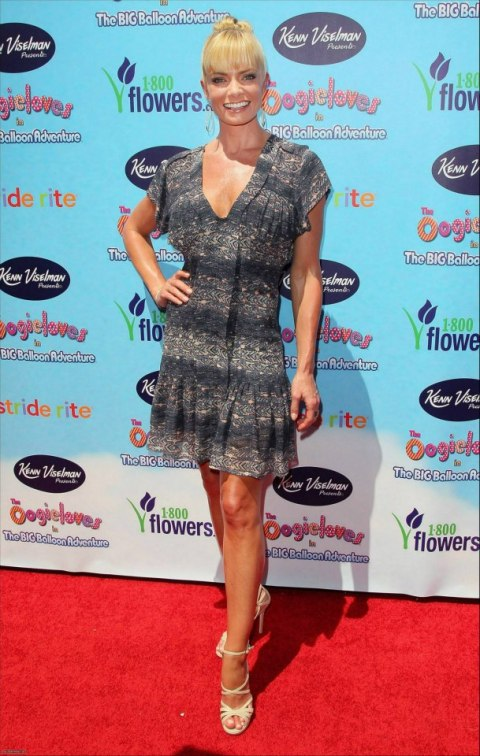 Jaime Pressly works the red carpet at the L.A. premiere of 'The Oogieloves in the Big Balloon Adventure'.