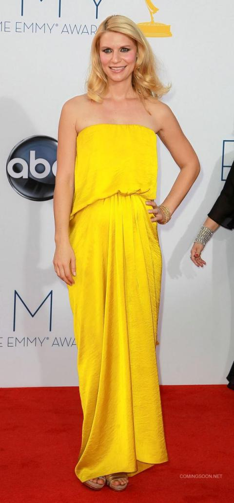 Outstanding Actress in a Drama winner Claire Danes of NC-filmed 'Homeland' on the red carpet at the 2012 Primetime Emmy Awards. (photo: ComingSoon.net)