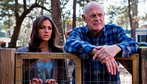 Jana Kramer and Gerald McRaney on the NC set of 'Heart of the Country'.