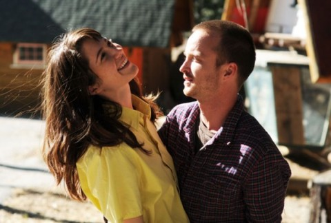 Mary Elizabeth Winstead and Aaron Paul star in 'Smashed'.