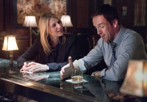 Claire Danes as Carrie Mathison and Damian Lewis as Nicholas Brody reunite in Season 2, episode 4 of 'Homeland'. (photo: Kent Smith/Showtime)