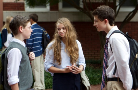 Jackson Pace as Chris Brody, Morgan Saylor as Dana Brody and Timothee Chalamet as Finn Walden in 'Homeland' Season 2, Episode 5. (photo: Kent Smith/Showtime)