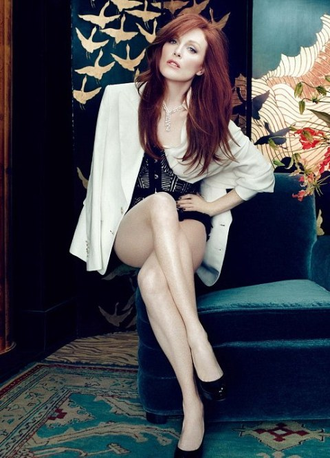 Fayetteville, NC native Julianne Moore will play Liam Neeson's love interest in 'Non-Stop'. (photo: In Style)