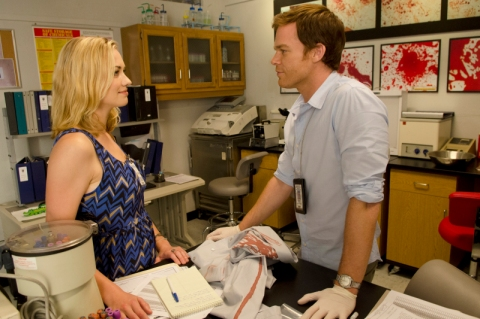 Yvonne Strahovski and Michael C. Hall star in 'Dexter'. (photo: Randy Tepper/Showtime)