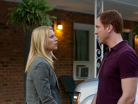 "Claire Danes as Carrie Mathison and Damian Lewis as Nicholas ""Nick"" Brody in Homeland (Season 2, Episode 8). (photo: Kent Smith/Showtime)"