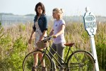 Cobie Smulders and Julianne Hough on the North Carolina set of 'Safe Haven'.