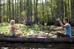 Julianne Hough and Josh Duhamel take a boat ride in 'Safe Haven'.