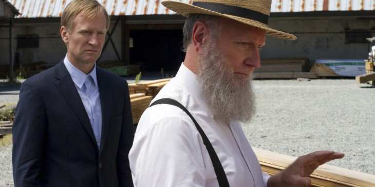 Ulrich Thomsen and Alpha Trivette star as father and son in 'Banshee'.