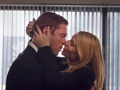 Damian Lewis is Nicholas Brody and Claire Danes is Carrie Mathison in 'Homeland'. (photo: Kent Smith / Showtime)