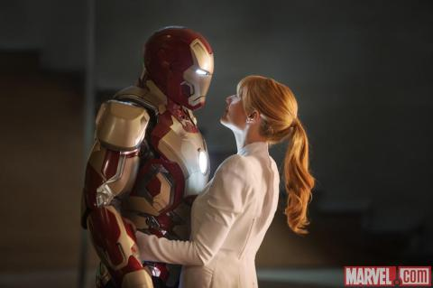 Gwyneth Paltrow is Pepper Potts in Marvel's 'Iron Man 3', filmed in Wilmington, NC.