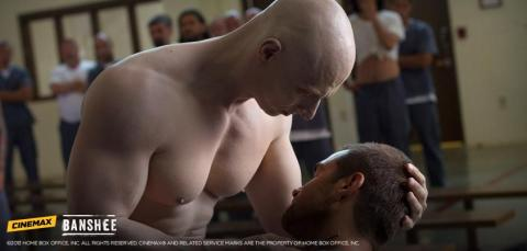 As The Albino, Joseph Gatt put a hurting on Antony Starr's Lucas Hood in last week's episode of 'Banshee'.