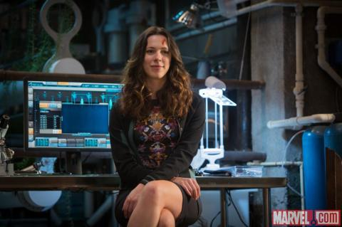 Rebecca Hall is Maya Hansen in 'Iron Man 3'.