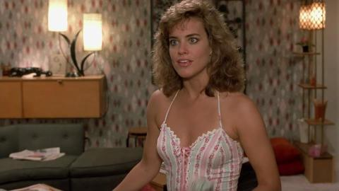 Catherine Mary Stewart is Gwen in 'Weekend at Bernie's', filmed in Wilmington, NC.