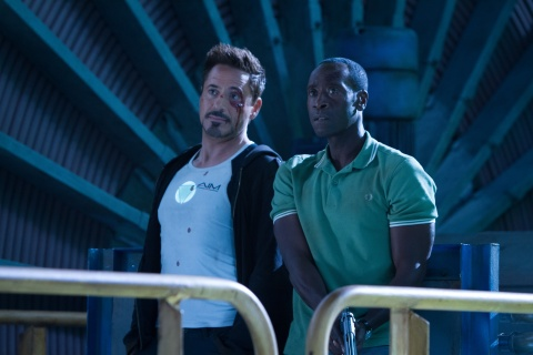 Robert Downey Jr. and Don Cheadle reunite in Marvel's 'Iron Man 3'.
