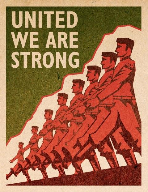 'Revolution' - Monroe Militia - propaganda poster