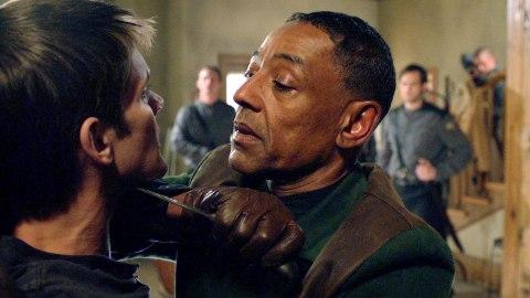 Giancarlo Esposito is Capt. Neville in NBC's 'Revolution', filmed in Wilmington, North Carolina.