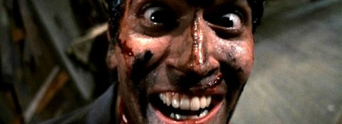 Bruce Campbell is Ash in 'Evil Dead II', filmed in Wadesboro, North Carolina.