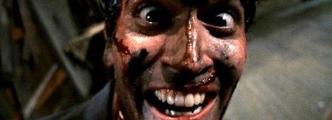 Bruce Campbell is Ash in 'Evil Dead II', filmed in Wadesboro, North Carolina.