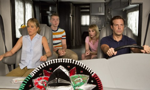 Jennifer Aniston, Will Poulter, Emma Roberts, and Jason Sudeikis star in 'We're the Millers', filmed in Wilmington, North Carolina.