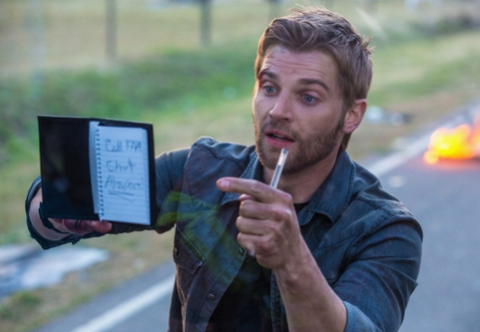 Mike Vogel stars in 'Under the Dome', filmed in Wilmington, North Carolina.