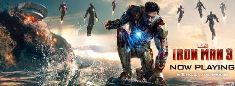 Iron Man 3 - now playing banner