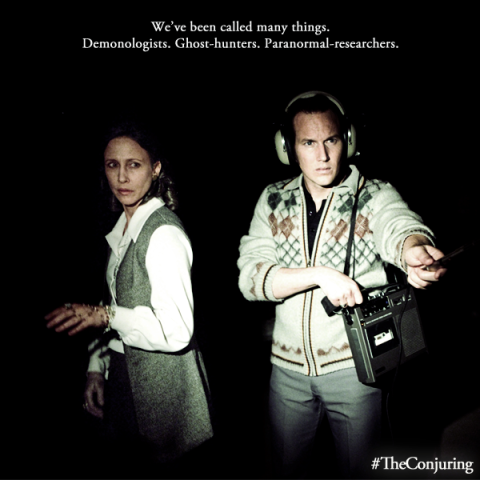 Vera Farmiga and Patrick Wilson are Lorainne and Ed Warren in 'The Conjuring', filmed in Wilmington, NC.