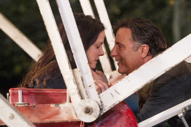 Mary Louise-Parker and Andy Garcia celebrate 'Christmas in Conway'.