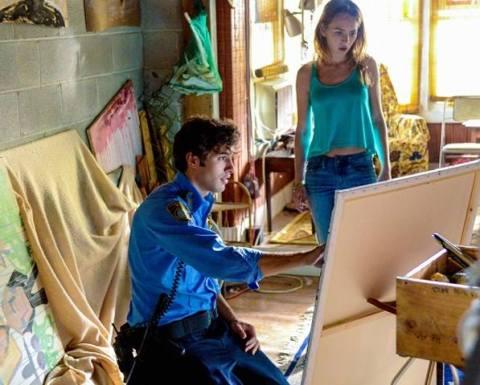 Alexander Koch and Britt Robertson star in 'Under the Dome', filmed in Wilmington, North Carolina.
