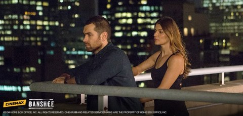 Antony Starr and Ivana Milicevic star in 'Banshee'.