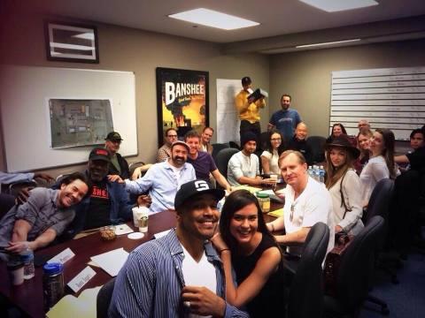 'Banshee' Season 3 first table read in Charlotte, North Carolina.