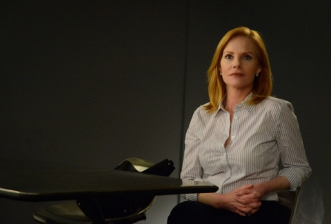 Marg Helgenberger goes 'Under the Dome' for Season 3, filmed in Wilmington, North Carolina.