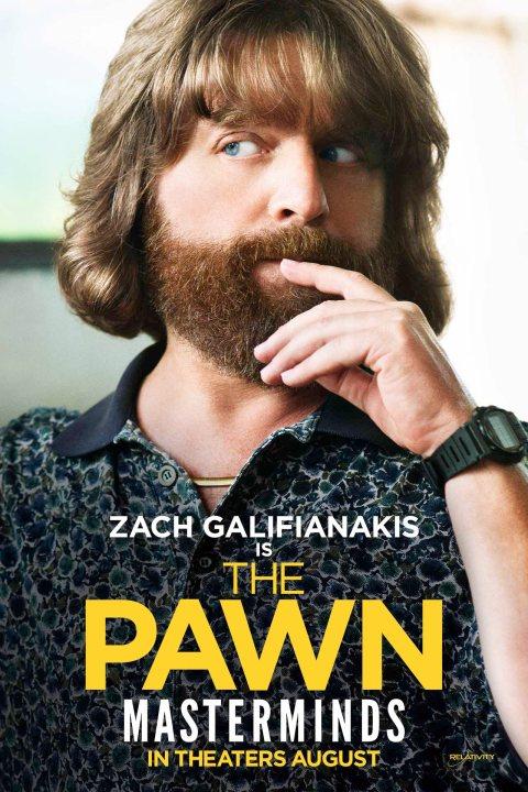 Masterminds Zach Galifianakis poster